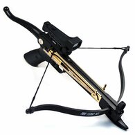 Cobra System Self Cocking Pistol Tactical Crossbow, 80-Pound (Red Dot Scope with 39 Arrows and 2 Strings)