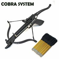 Cobra System Self Cocking Pistol Tactical Crossbow, 80-Pound (Fiberglass Body with 27 arrows and 2 Strings)