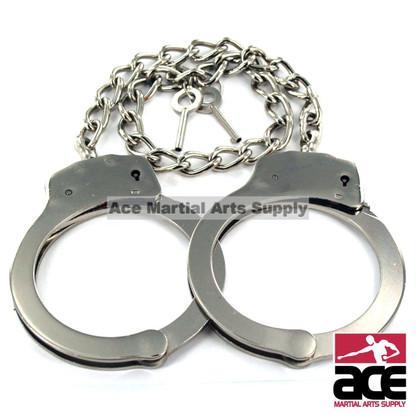 Steel, double lock legcuffs. Include 2 keys.