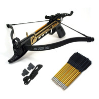 Cobra System Self Cocking Pistol Tactical Crossbow, 80-Pound with 39 arrows, 2 Strings
