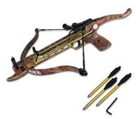 Cobra System Self Cocking Pistol Tactical Crossbow, 80-Pound (Camo Color with 15 Arrows with 2 Strings)
