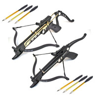 Self Cocking Draw Crossbow Pistol Set, 80-Pound COMBO