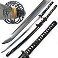 Ace Martial Arts Supply Classic Crane Tsuba Handmade Samurai Katana Sharp Sword-Musha (Extra Longer (4 Inch))