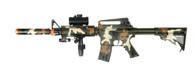 DOUBLE EAGLE M4 AEG W/ PRESSURE DOT SCOPE EXTENSION - CAMO