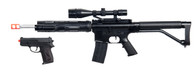UKARMS P1136 Spring Rifle w/ Scope, Laser, & Flashlight and Bonus P618 Spring Pistol in Combo Box