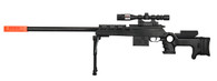 SEMI-AUTO SPRING AIRSOFT SNIPER RIFLE W/ MOCK SCOPE (BLACK)