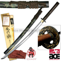 Ryumon Bamboo Katana Hand Forged 1065 Carbon Steel Sword