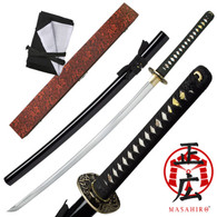 Masahiro Samurai Sword Black Tidal Dragon Full Tang ITO Katana Gift Box Model 221