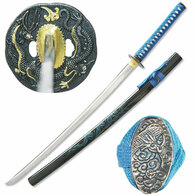 41 Inch Overall Full Tang Dragon Samurai Handmade Functional Sword