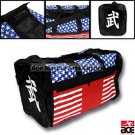 The large Stars and Stripes sports bag is perfect for storing all of your sporting equipment. It is durable enough for the heaviest equipment and features 4 zippered compartments and a detachable shoulder strap.