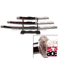 3 Pc 1st Generation Highlander Katana Sword Set