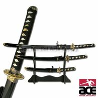 3 Pc Traditional Samurai Katana Sword Set
