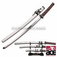 3 Pcs Dragon Samurai Katana Sword Set - Black and White