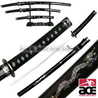 4Pc Japanes Sword Set With Dragons