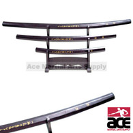 Shirasaya 3 Pc Samurai Sword Set With Stand