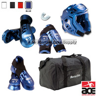 Deluxe Macho Warrior Sparring Gear Set with FREE BAG