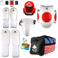 Pine Tree Sang Moo Sa Complete Cloth Martial Arts Sparring Gear Set with Bag and Groin Cup