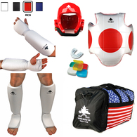 Pine Tree Sang Moo Sa Complete Taekwondo Sparring Gear Set w/ Bag