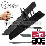 ERIC HASQUE Fixed Blade Knife With Kubotan and Throwing Knife