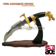 Tom Anderson Dragon Claw Dagger with Gold Finish