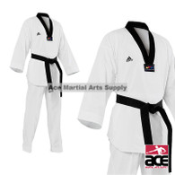 Adidas Champion II TKD Uniform, Black Lapel
