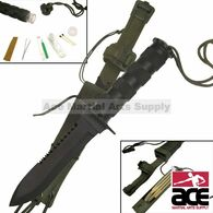 "10 1/2"" Overall Survival Knife Black Finish"