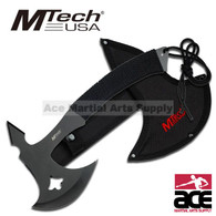 MTech Black Ninja Throwing Axe Hatchet - 10.75 Inch Overall