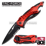 "Tac Force TF-705RD 8"" Fire Fighter Spring Assisted Folding Knife"