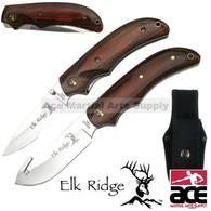 2 Pcs Elk Ridge Gut Hook Hunting Knife and Pocket Knife Set