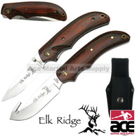 2 Pcs Elk Ridge Gut Hook Hunting Knife and Pocket Knife Set