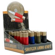 24 Pcs Shot Gun Ammo Knives Set W/ Display Box