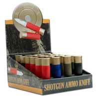 24 Pcs Shot Gun Ammo Knives Set W/ Display Box