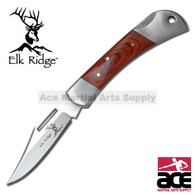"3"" Closed LockBack Folder Pocket Knife - Wood Handle"