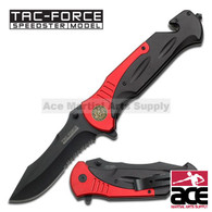 "Tac Force TF-727FD 10.5"" Fire Fighter Rescue Spring Assisted Folding Knife"