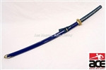 "40"" Blue BUSHIDO Japanese Kanji Samurai Katana Sword"