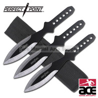 3 Pcs All Black Throwing Knives Set - 9 Inch Overall