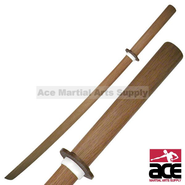 """NEW 40/"""" Natural Wood Samurai Ninja Bokken Practice Sword Red"""