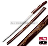Shirasaya Japanese Dragon Curved Samurai Sword