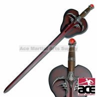 Fire Breathing Dragon Fantasy Sword with Display Plaque