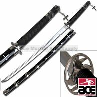 Shark Tooth Fantasy Samurai Sword - Black