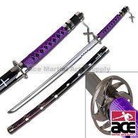 Shark Tooth Fantasy Samurai Sword - Purple