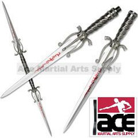 Twin Cobra Snake Daggers and Spear W/ Stand