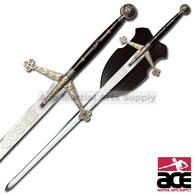 Royal Scottish Claymore Sword w/ Display Plaque