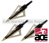 NEW THREE PACK 3-BLADE BROADHEAD TIPS 150 LB CROSSBOW ARROWS BOLTS ARCHERY