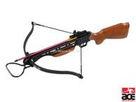 NEW 150 LB ARCHERY HUNTING 210 FPS WOOD BOW Gun CROSSBOW w/ ARROWS BOLTS