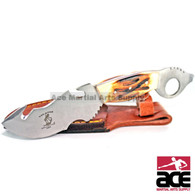 "8"" The Bone Collector Hunting Knife Real Genuine Burnt Bone Handle"