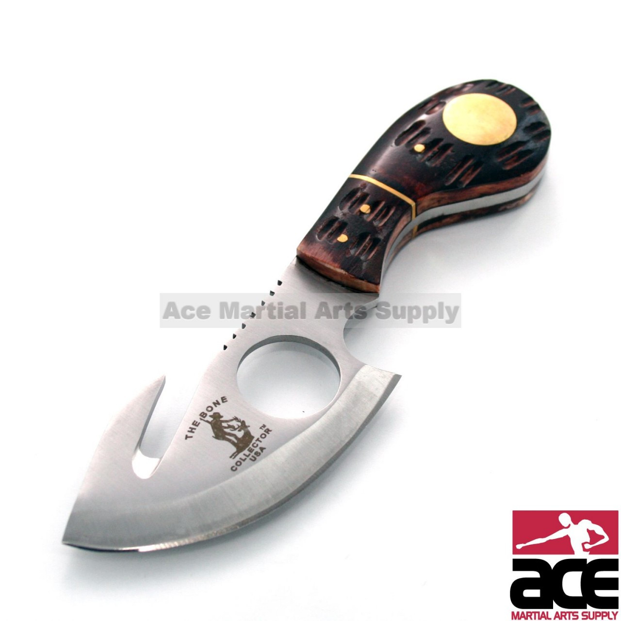 7 Bone Collector Fixed Blade Gut Hook Skinning Knife Hunting Bowie Fish Skinner In Los Angeles Store