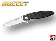 """7.5"""" BULLET BLACK SPRING ASSISTED FOLDING KNIFE Pocket Blade Open-Assist *DONT UPLOAD*"""