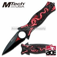 "Tac Force TF-707RD 8"" Red Dragon Spring Assisted Folding Knife"