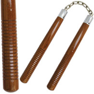 "12"" Dark Wood Nunchaku"